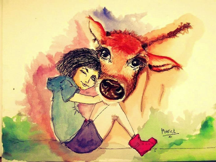 Cow love At by Maru Luna