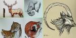 Pai ilustra animais em cada letra do alfabeto para ensinar filho a escrever
